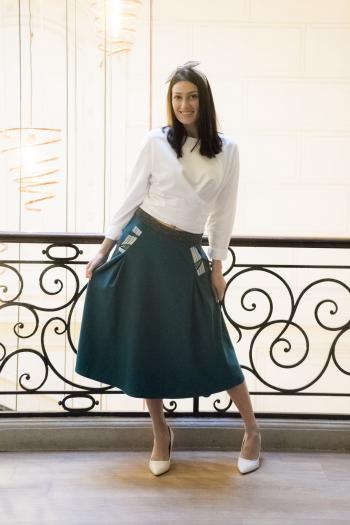 """Skirt """"Afia"""" fir green"""