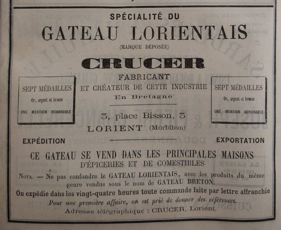 L'ancien nom du gateau breton