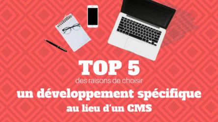 Top 5 des Raisons de préferer un développement spécifique à un CMS