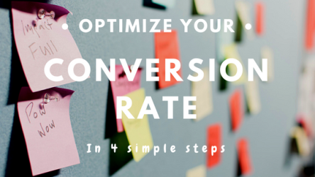 4 simple steps to optimize its conversion rate