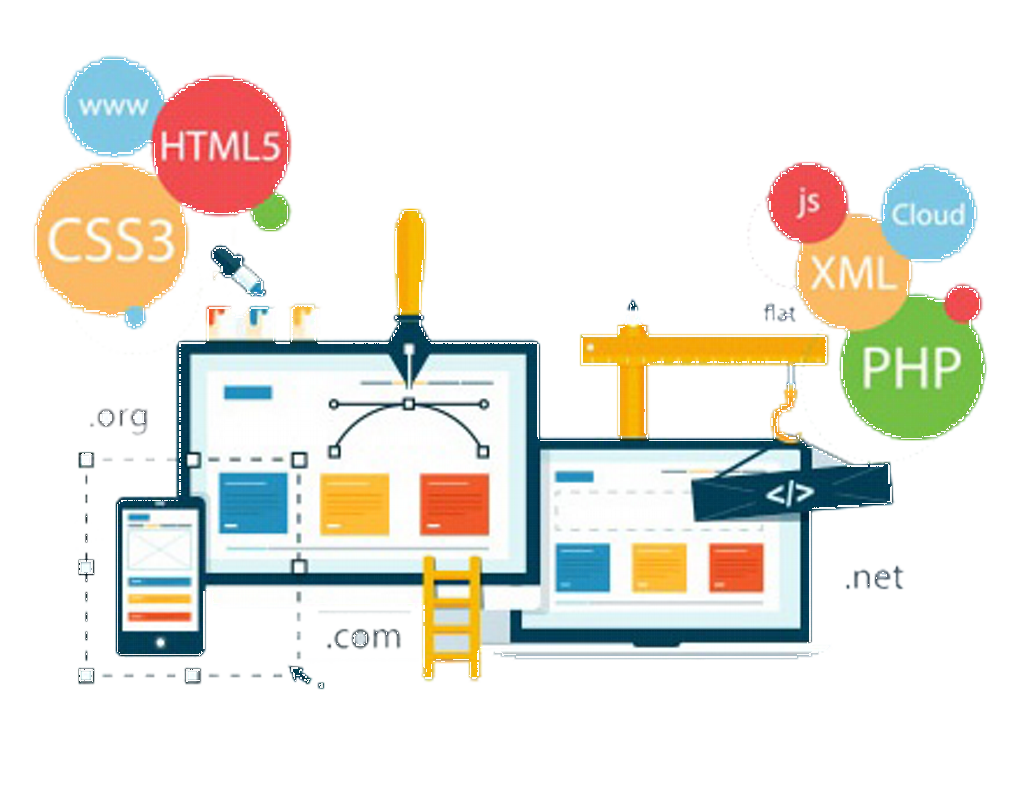specific development of a website