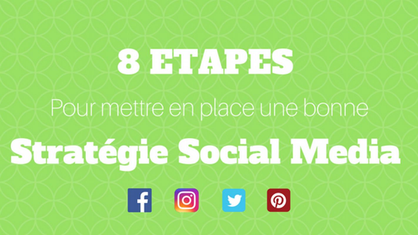 8 étapes pour mettre en place une bonne stratégie sur ses réseaux sociaux